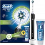 Periuta electrica Oral-B PRO 750 Black + pasta de dinti Oral-B Pro-Expert