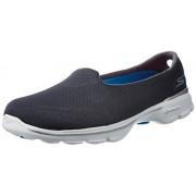 Skechers Women's Go Walk 3 - Insight Charcoal Nordic Walking Shoes - 5 UK/India (38 EU) (8 US)