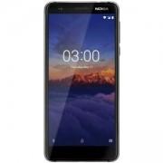 Смартфон NOKIA 3.1 DS BLACK, 5.2 инча 18:9 HD+, 2 GB, 16 GB e-MMC 5.1, Dual SIM, Черен