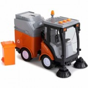 Morgan Sellers Big Size City Sanitation Sweeper Cleaning Truck with Light Sound Friction Powered Garbage Toy Truck