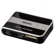 CARD READER, Hama All in One, Multicard Reader, USB2.0, Black/Gery (49016)