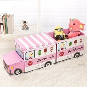 Moon Ice Cream Car Combination,Kids Collapsible Toy Storage Organizer, Box Combination Folding for Kids Bedroom, Toys, Suit(A Head, A Box)