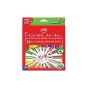 Lápis de Cor 24 cores super ponta triangular 120524SP Faber Castell