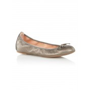 Unisa Acor ballerina van leer met metallic finish