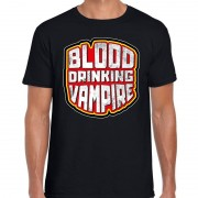 Bellatio Decorations Halloween blood drinking vampire verkleed t-shirt zwart heren