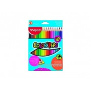 Creioane colorate Maped COLOR`PEPS, 18 buc./pachet