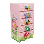 Fantasy Fields - Magic Garden Thematic Kids Wooden Jewelry Box   Imagination Inspiring Hand Painted Details   Non-Toxic, Lead Free Water-based Paint