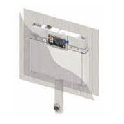 Rezervor WC TECEbox 8 cm, zidarie pentru vas de pardoseala, actionare frontala
