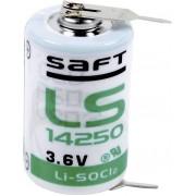 Baterie litiu Saft LS 14250 2PF, 1/2 AA, 2 pini radiali, 3.6 V, 1200 mAh