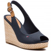 Еспадрили TOMMY HILFIGER - Iconic Elena Basic Sling Back FW0FW04082 Midnight 403