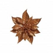 Bellatio flowers & plants Kerstboom decoratie bloem koper 18 cm