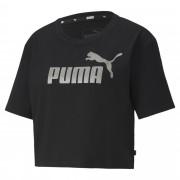 【プーマ公式通販】 プーマ ESS+ ウィメンズ クロップド Tシャツ 半袖 ウィメンズ Puma Black-Silver  PUMA.com ブラック