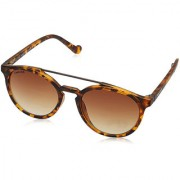 Fastrack P341BR2 Round UV Protection Sunglasses Brown / Brown