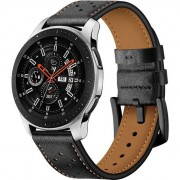 Curea piele Tech-Protect Leather Samsung Galaxy Watch (42mm) Black