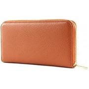 Coccinelle Portafoglio Donn Con Zip - Metallic Soft L - Tan Ruggine - Fw5 11 04 01 W09