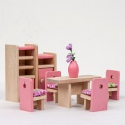 Meubles En Bois De Fashion Dolls House Miniature 6 Ensemble De Salle Apprendre Des Jouets Pour Enfants Kids