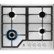GARANTIE 2 ANI Plita pe gaz Electrolux gratare de fonta arzator wok 60 cm Inox KGS6436SX