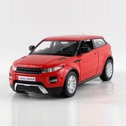 UNI-FORTUNE 5inch Range Rover Land Rover Evoque Diecast Model Car 1/36 Pull Back Toy For Kids Gift Red