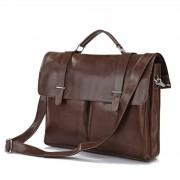 Delton Bags Braune Vintage-Ledertasche
