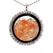 Üveg szelence napkő drágakövekkel
