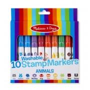 Set 10 stampile marker lavabile Animale Melissa and Doug