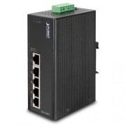 Planet Industrial 5-Port (5x 100Mbps RJ45 w 4 POE ports) Switch, (-40~75C) unmanaged