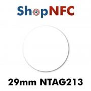 Tag NFC NTAG213 29 mm adesivi