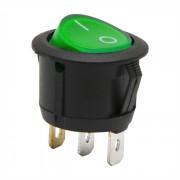 Kapcsoló billenő világító kerek 6A 250V 09085GR zöld