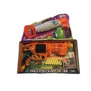 Bubbles&Bullets Summer War 2pc, kids and teenager,Lanard Total X-Stream Air Rotator X-8 Zuru X-Shot,Large Bubble Gun Blower Toy by lenard