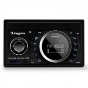 MD-210 BT RDS Auto rádio Bluetooth USB SD MP3 microfone 2-DIN 4x75W