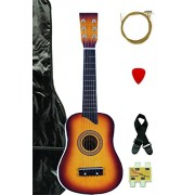 Sunburst Acoustic Toy Guitar for Kids with Carrying Bag and Accessories & DirectlyCheap(TM) Translucent Blue Medium Guitar Pick