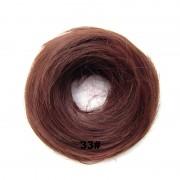 Příčesek - drdol na gumičce střapatý (33 (tmavý kaštan)) - Světové Zboží
