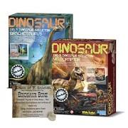 Dig a Dinosaur Excavation Dino Kit Brachiosaurus and Velociraptor Dinosaurs - 2 Pack Includes Authentic Dinosaur Bone!