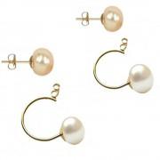 Set Bulgaras cu Perle Naturale Albe Calitatea AAA