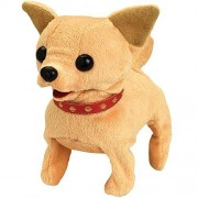 Bits and Pieces - Walking and Talking Plush Chihuahua - Animated Stuffed Animal Dog