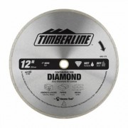 Timberline 640-170 Continuous Rim Diamond 12 Inch D 1 Inch Bore, Circular Diamond Saw Blade