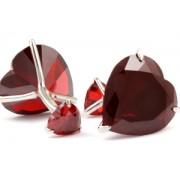 Mousie Bean Crystal Cufflinks CZ Heart 018