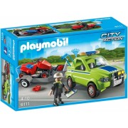 Om cu masina de tuns iarba City Action City Cleaning Playmobil