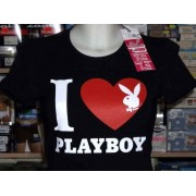 Disney T-shirt donna Playboy girocollo con logo e cuore in stampa
