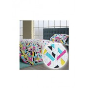Lenjerie de pat, Dormisete, 2 persoane, Puzzle V1, renforce imprimata, bumbac, 220 x 230 cm, Multicolor