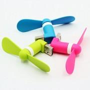 Mini Portable Travelling OTG USB Smartphone/Android Mobile Cooling Fan (Black/Blue/Orange/Pink)