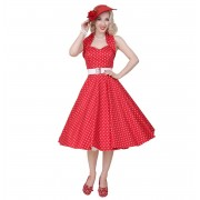 Dots Dress Red