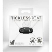 Aparat repelent cu ultrasunet împotriva căpușelor și puricilor TickLess Mini Cat negru