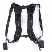 Cam Cart Double Shoulder Belt Sling Rapid Quick Strap for 2 DSLR Digital SLR Camera
