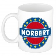 Bellatio Decorations Voornaam Norbert koffie/thee mok of beker