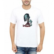 DOUBLE F ROUND NECK HALF SLEEVE WHITE COLOR DIFFERENT HUMAN PRINTED T-SHIRTS
