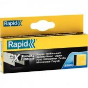 Rapid Nr 13 Fintrådsklammer Rostfritt stål 2500-pack 6 mm
