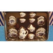 Serviciu de cafea portelan De Luxe - miniaturi papusi