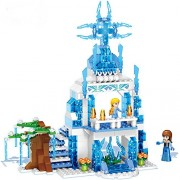 Montez Happy Princess Magic Snow Castle with 2 Mini Figure Doll 20018 355pcs DIY Dollhouse Set