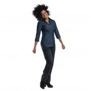 Chaud Devant Blue Denim Stretch dames blouse 3kwart mouw XL - XL